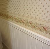 トイレの壁紙も統一