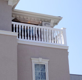 屋上のバルコニーも印象的